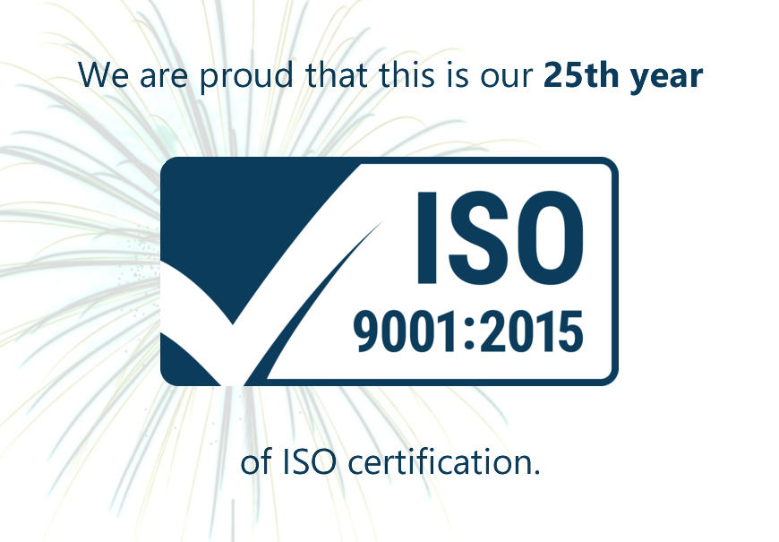 SSDL achieves 25th year of ISO with new ISO 9001:2015 Quality Management Systems Standards Certification