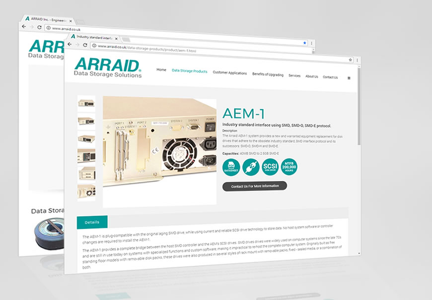 Arraid, LLC launch new responsive website in alignment with revamped product range